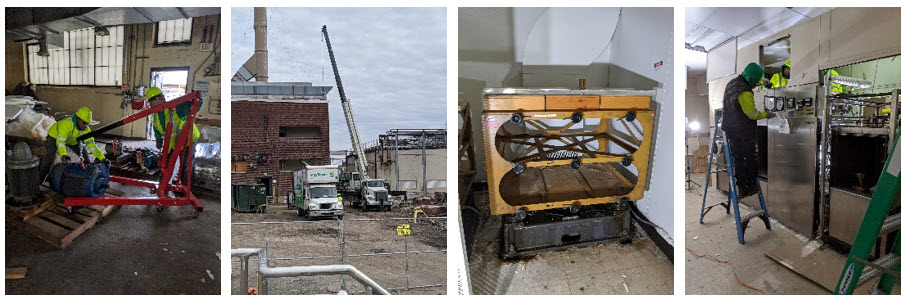 photos of lab move for Merck & Co, a pharmaceutical company