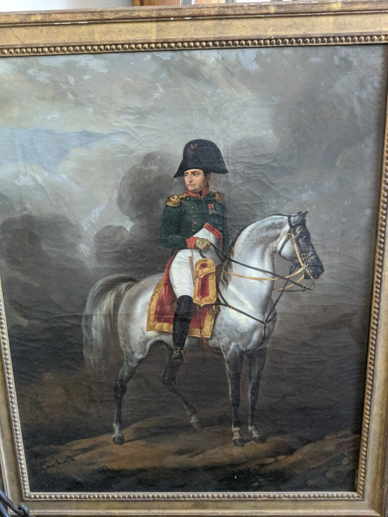 photo of oil painting of Napoleon